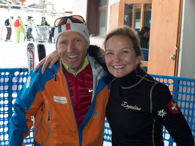 Our ski touring guide, Jean Louis Guigonnet, and Shauna.