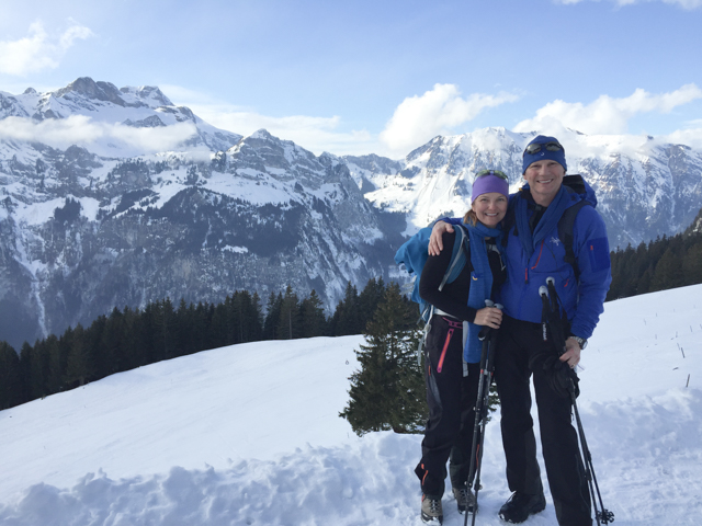 The snowshoeing in Engelberg was awsome!