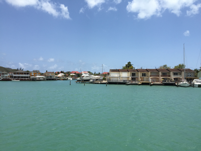 Jolly Harbour in Antigua.  Looked more like a lake with lots of lake houses with boat docks.
