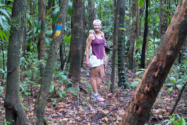 We started out in a lush (an understatement) rainforest.