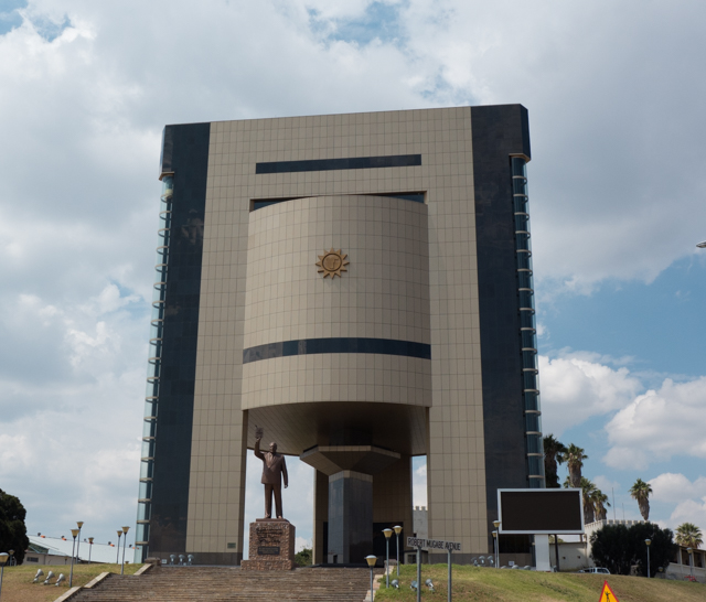 The Namibian National Independence Museum was completed in 2014. The theme of the museum is the colonial history of Namibia and the fight for independence.   Interesting that Namibia hired the North Koreans to design and build this museum - change the Namibian faces on the monumental statues and replace with Korean and you could be in North Korea!