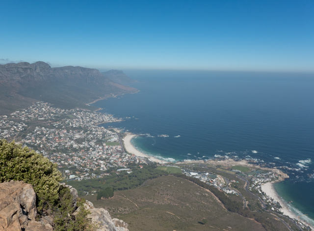 ....and Camps Bay to the southwest.