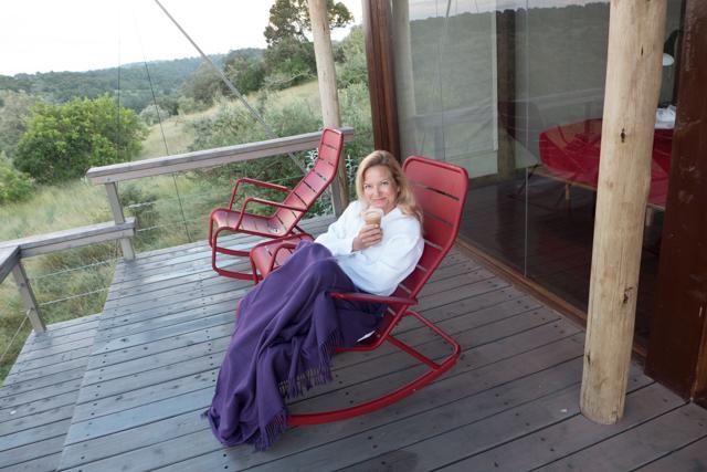 Shauna was quite happy overlooking the Mara cloud blanket.
