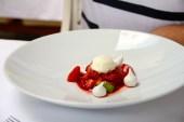 Glen's dessert. Strawberries with meringues.