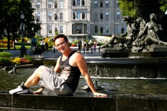 Glen and the fountain