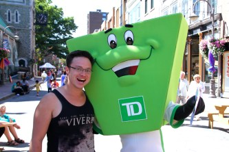 Glen with the TD Bank mascot.