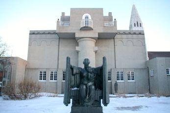 Sculpture garden and the museum