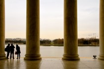At the Jefferson Memorial