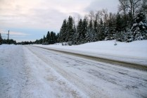 The roads had already been plower by the time we got up.