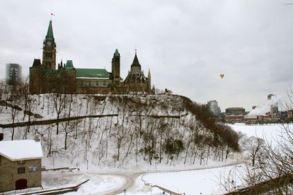 Parliament Hill looks so different from when we were here in October.