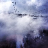 Cable car in the clouds