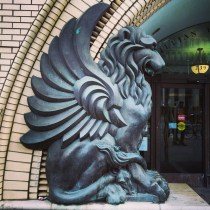 Gryphons guarding the library
