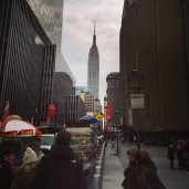 Empire State Building from Madison Square Garden