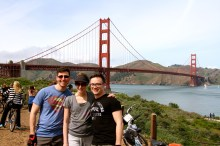 Me, Anna and Glen...and the Golden Gate Bridge