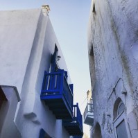 In the streets of Mykonos old town
