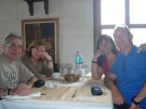 Almoço com Vivian e Enriqueta