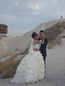 Enquanto estávamos lá os noivos apareceram para tirar foto com as senhoras