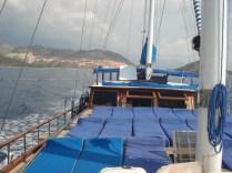 Deck do navio onde tomaremos sol