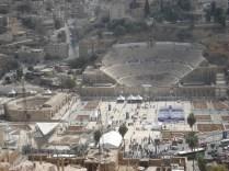 Vista do Teatro Romano a partir do Castelo de Amã