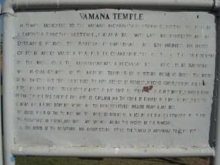Identificação do Templo hindu Vamana