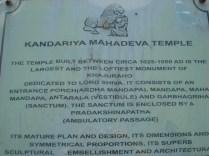 Identificação do Templo Kandariya Mahadeva que de tão lindo que abre o post