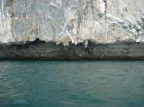 Voltando para Ao Nang de Phra Nang no barco longtail