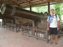 Canhões das Nove Divindades que funcionava como proteção simbólica para a nova capital
