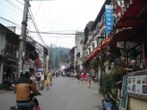 Uma das ruas da cidade
