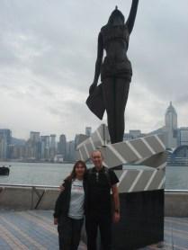 O clima não ajudou ver a ilha de HK está do outro lado