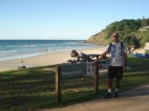Wategos Beach, outra praia no caminho para o farol