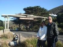 Memorial Arch, começo da estrada, foto obrigatória