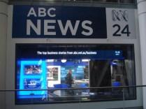 Visitamos o prédio da ABC News que é um canal que passa notícias o dia todo