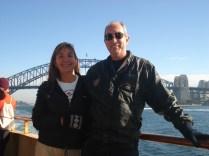 Nós no ferry que percorre os 17 km que separam Manly de Sidnei
