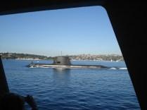 E ainda avistamos um submarino na nossa volta para Sidnei