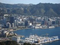 Porto de Wellington e centro visto do Mt. Victoria