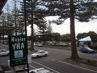 Vista da nossa varanda no hostel