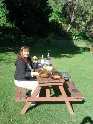 Local para fazer as refeições ao ar livre