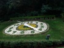 Relógio das flores que marca a entrada de Viña