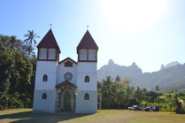 Igreja onde fomos ver missa. Igreja da Santa Família.