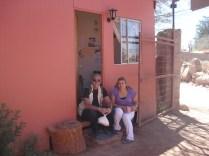 Sandra uma boliviana que trabalha no albergue. A Naty não quis aparecer.