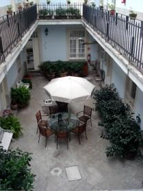 Vista do pátio do primeiro andar