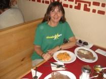 Carne com frijoles Sopa asteca e arroz