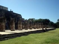 O Templo dos Mil Guerreiros é uma das mais impressionantes estruturas de Chichén Itzá