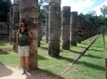 Colunas do Templo dos Mil Guerreiros