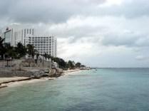 Vista das praias e dos hotéis bem de longe