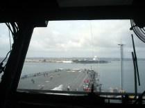 Vista a partir da ponte de comando