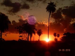 Por do sol no retorno