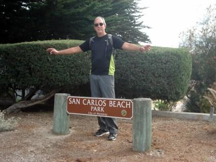 San Carlos State Beach é uma pequena praia que fica entre a Cannery e o cais (Fisherman's Wharf) e que Carlos adorou