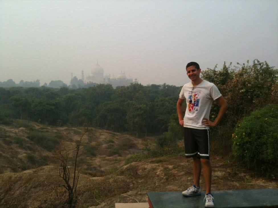 View of the Taj Mahal from the Taj Nature Walk