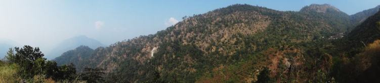 Notice the little community on the right. So secluded in the Himalayas.